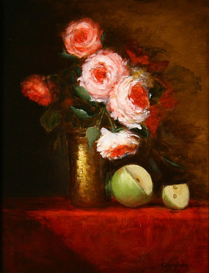 Carla Anglada, ALEJANDRO'S ROSES Oil on Board