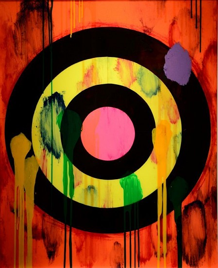 Ford Beckman, POP TARGET NO. 6 Paper construction, hand painted mixed media