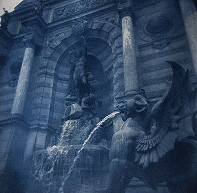 Catherine Adams, PLACE ST-MICHEL, PARIS 2012, Cyanotype