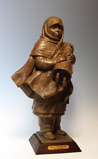 Paul Moore, SHALAKO AND THE ZUNI GIRL, Ed. 15 2012, Bronze