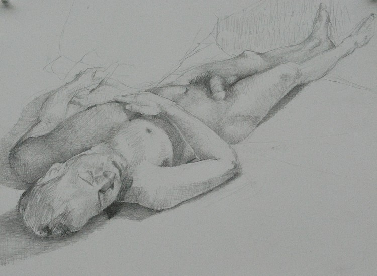 Jose Rodriguez, NUDE STUDY, MANET BULLFIGHTER Graphite on Paper