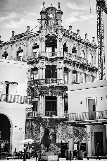 Catherine Adams, THE ACUTE CHARM OF RUIN & DEVELOPMENT, #1 (PLAZA VIEJA), HAVANA, CUBA 2017, Chromogenic Print